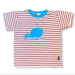 Le Top | Striped Short Sleeve Tee Shirt (4T) 🐳